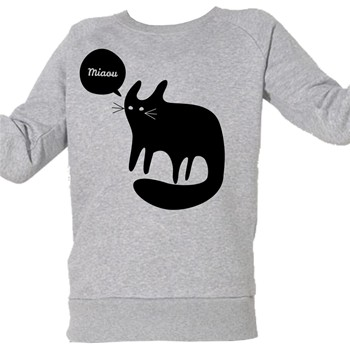 ArteCita - Chat Noir Miaou - Top/tee-shirt - gris chine - 1873083
