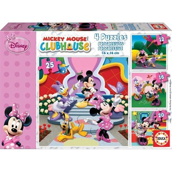 Educa - Puzzle X4 Mickey Club - multicolore - 1860351