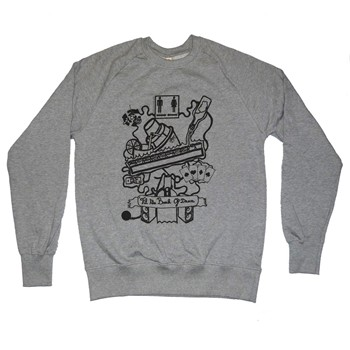 Chillgreen - Sweat en coton Til The Break - gris chine - 1874899