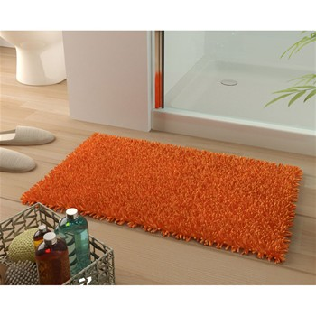 Becquet - Tapis de bain coton longues mèches 1500g/m2 - orange papaye - 1877521