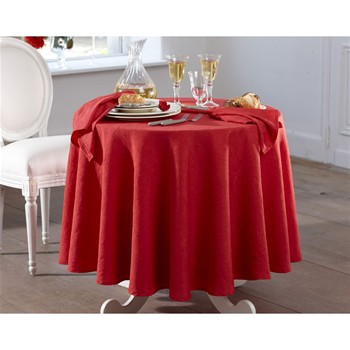Becquet - Lot de 3 serviettes de table - rouge - 1877686