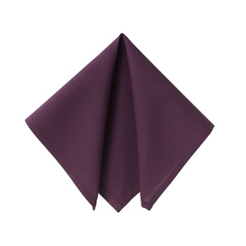 Becquet - Lot de 6 serviettes de table - aubergine - 1877695