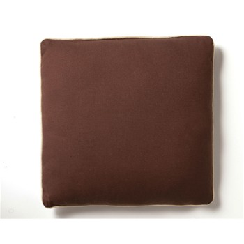 Becquet - Lot de 2 coussins - marron chocolat - 1876707