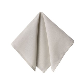 Becquet - Lot de 6 serviettes de table - blanc grège - 1877910