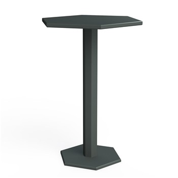 Zhed - HEXAGONE - Table mange debout - Gris souris - 1905524