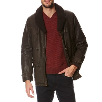 Manteau en cuir - marron