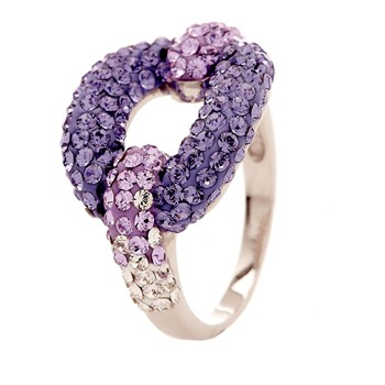 Original Crystal - Ruban Violet - Ring - violett