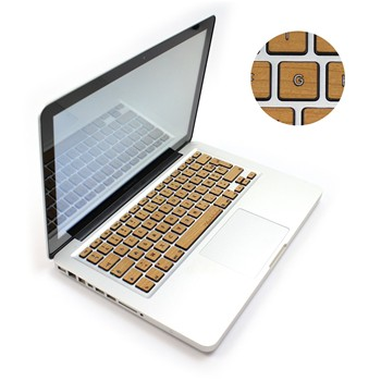 Woodstache - Clavier Macbook en bois - marron clair - 1940571