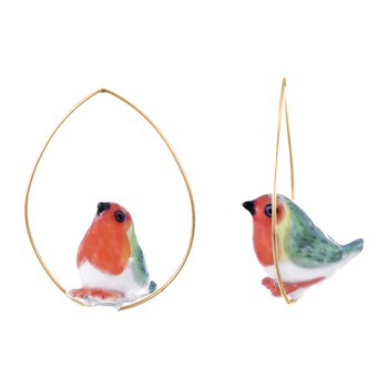 Rouge gorge - Pendientes - multicolor