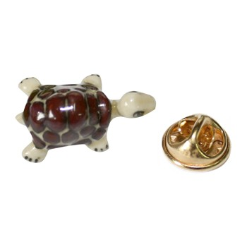 Bébé tortue - Pin - marrón