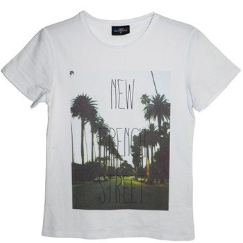 Frenchcool - French Street - T-shirt en coton col rond - blanc - 1686743
