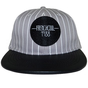 Frenchcool - Snapback Baseball - Casquette en coton logo Frenchcool - gris - 1686766