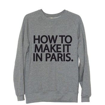 Frenchcool - How to make it in Paris - Sweat en coton col rond - gris - 1686770