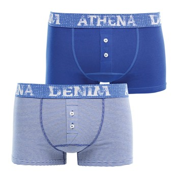 Athena - Denim West - Lot de 2 boxers - bleu - 1968199