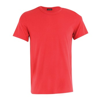 Micro Coton - Tee-shirt col rond - rouge