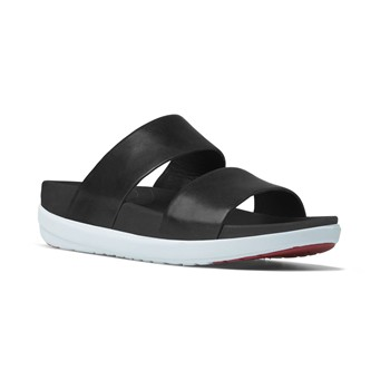 Loosh slide - Sandales en cuir - noir