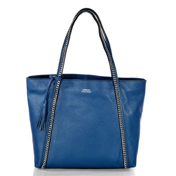 Marilou - Shopping bag in pelle - blu