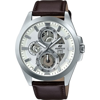 Casio Edifice - Montre bracelet en cuir - marron