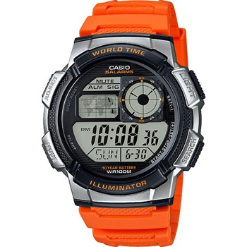 Casio - Casio Collection - Montre bracelet en silicone - orange