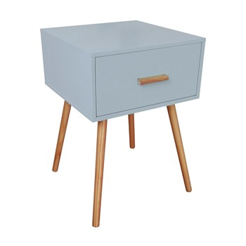 Sixties petite table d 39 appoint gris clair potiron for Petite table d appoint exterieur