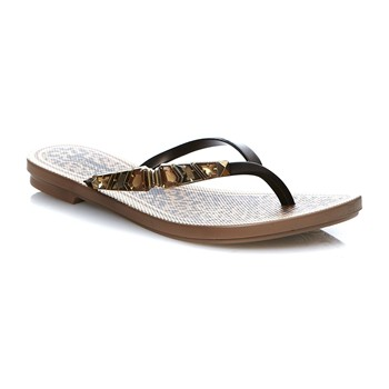 JEWEL THONG - Chanclas - marrón
