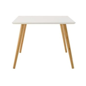 Table d'appoint 60x60x45cm - blanc