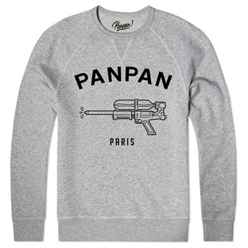 Panpan Paris - water pistol - Sweat shirt coton bio - gris chine - 1893536