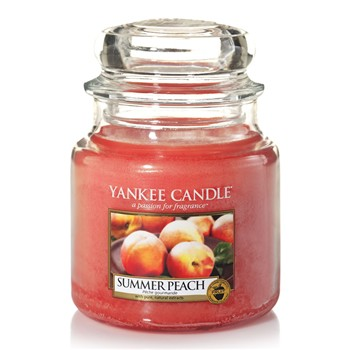 Yankee Candle - Pêche Gourmande - Mittelgroßes Glas - orange
