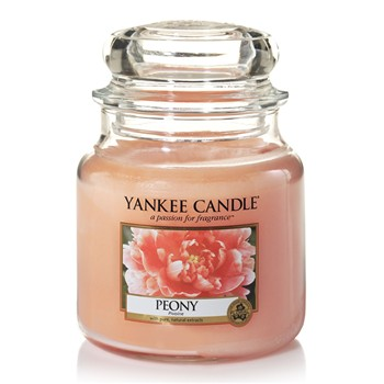 Yankee Candle - Pivoine - Moyenne Jarre - rose clair