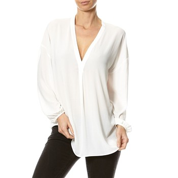 Blouse, Tunique, Chemisier - blanc