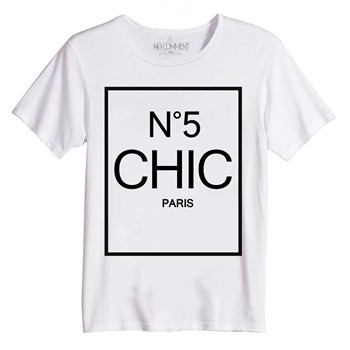 Chic - T-shirt manches courtes - blanc