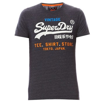 Superdry - T-shirt Label - bleu marine - 1996253