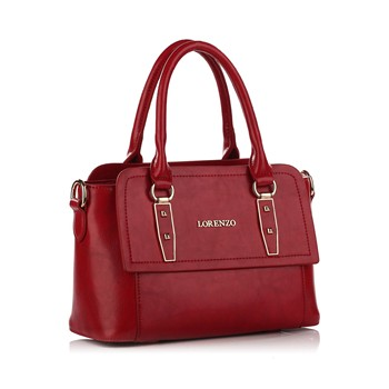 Shopping bag in pelle - rosso