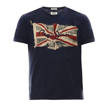 Pepe Jeans London - Flag Logo - T-shirt - bleu - 2030922