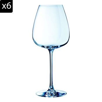 Emotion - Lot de 6 verres à pied 47 cl - transparent