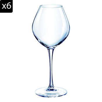 Emotion - Lot de 6 verres à pied 62cl - transparent