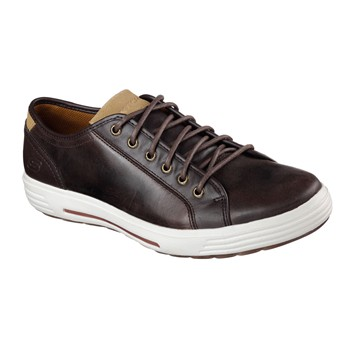 Skechers - PORTER - Baskets en cuir - marron - 2069472