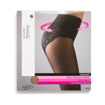 Monoprix - Collant avec slip gainant - multicolore - 1854088