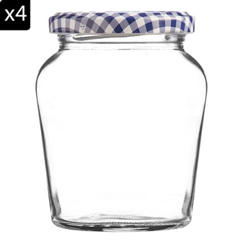 Kilner - 4 pots à confiture 260 ml - transparent - 2073768