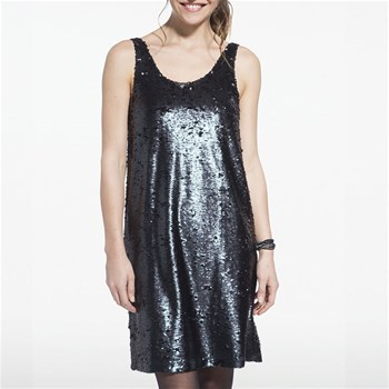 Robe à sequins - noir