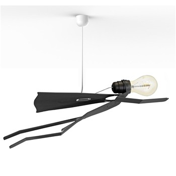 Thomas de Lussac - SuperMoonwalk - Lampe suspension - noir