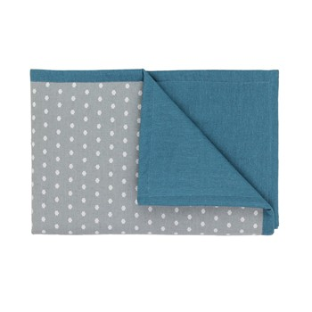Art for Kids - Nuages - Couverture doudou réversible - gris