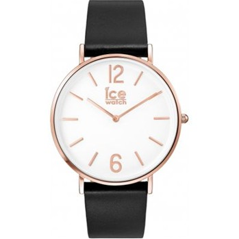 Ice City - Montre bracelet en cuir - noir