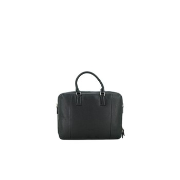 Porte-document en cuir - noir