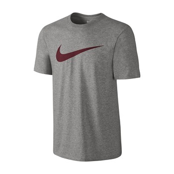 Nike - TEE-CHEST SWOOSH - T-shirt - gris - 1951041