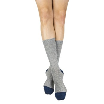 My Lovely Socks - Fred - Mi-chaussettes en laine - gris clair - 2123245