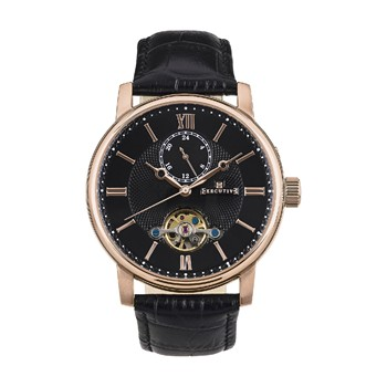 Executive - Prinstripes - Montre en cuir - noir
