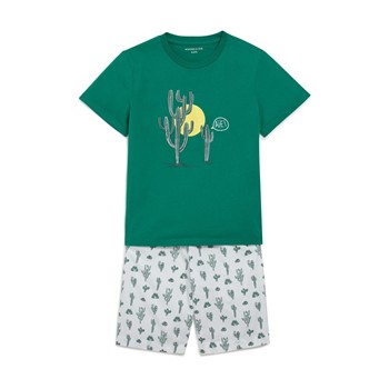 Monoprix Kids - Ensemble t-shirt et short - vert - 2134146