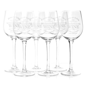 Excellent houseware - Lot de 6 verres à vin - transparent - 1910498
