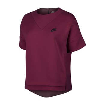 Tech Fleece Crew - T-shirt - bordeaux